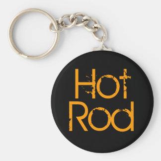Hot Rod Basic Round Button Key Ring