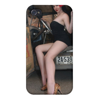Hot Rod Betty Pin Up Girl iPhone 4 Speck Case iPhone 4/4S Cases