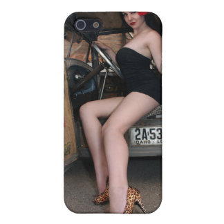 Hot Rod Betty Pin Up Girl iPhone 4 Speck Case Cover For iPhone 5