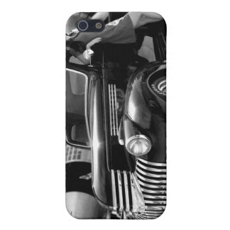 Hot Rod Bomber Pin Up Girl Rat Rod iPhone 4 Case