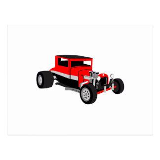 Hot Rod Car Postcard