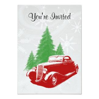 Hot Rod Christmas 13 Cm X 18 Cm Invitation Card