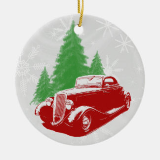 Hot Rod Christmas Ornament