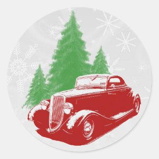 Hot Rod Christmas Sticker