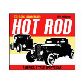 Hot Rod - Classic American Sports Car Postcard