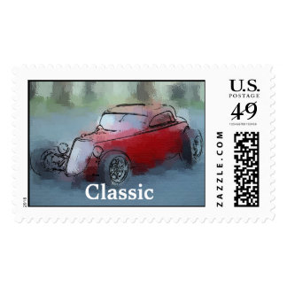 Hot Rod, Classic Postage Stamp