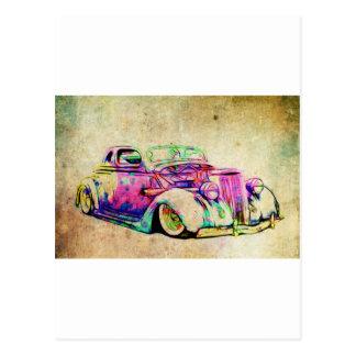 Hot Rod Colors Postcard
