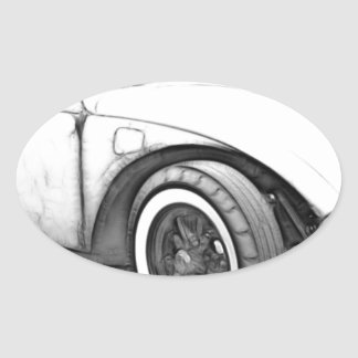 Hot Rod Custom Oval Sticker