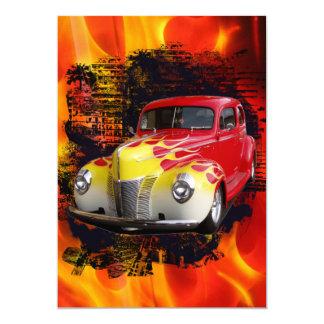 Hot Rod Deluxe Birthday 13 Cm X 18 Cm Invitation Card
