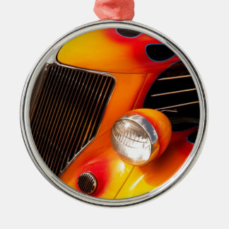 Hot Rod Flames Christmas Ornament