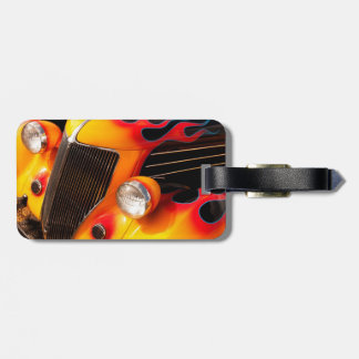 Hot Rod Flames Luggage Tag
