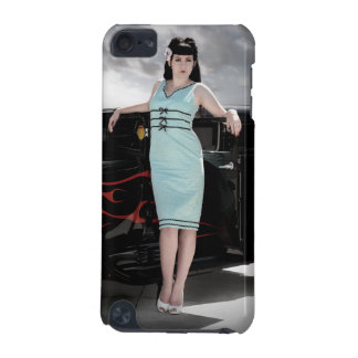 Hot Rod Flames Pin Up Girl Betty iPod Touch Case