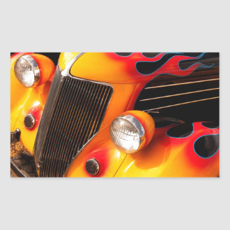 Hot Rod Flames Rectangle Stickers