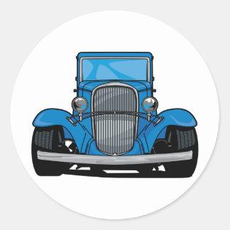 Hot Rod Front Round Sticker