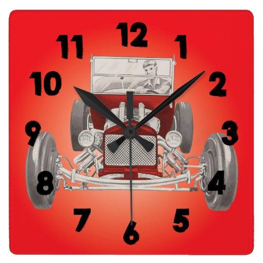 Man Cave Garage Clocks : Hot rod garage man cave clock zazzle