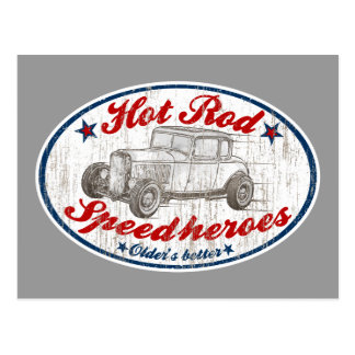 Hot Rod garage Postcard