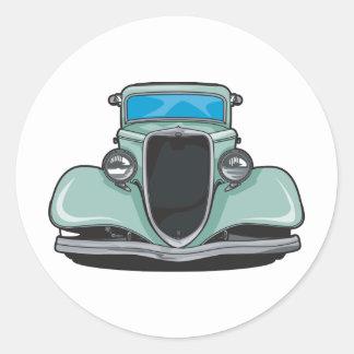 Hot Rod (Green) Classic Round Sticker
