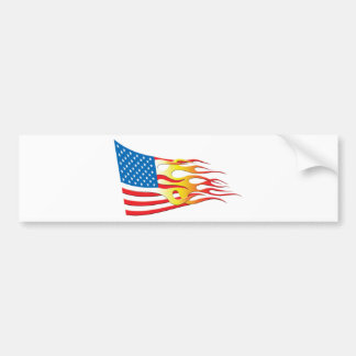Hot Rod Nation Flag Bumper Sticker