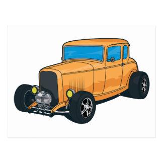 Hot Rod Orange Postcard