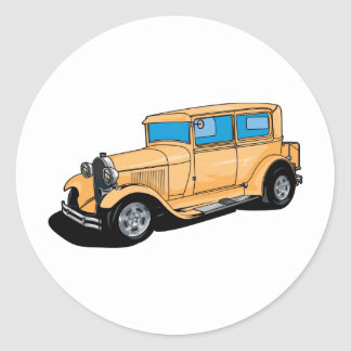 Hot Rod (Orange) Round Sticker