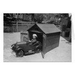 Hot Rod Pedal Car, early 1900s Greeting Card