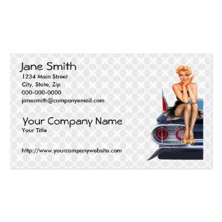 Hot Rod Pin Up Girl Business Card Templates