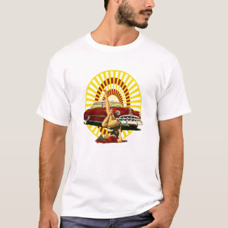 Hot Rod Pinup Girl T-Shirt