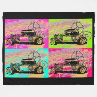 Hot Rod/Pop Art Fleece Blanket
