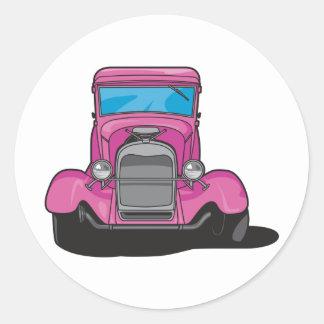 Hot Rod Purple Round Sticker