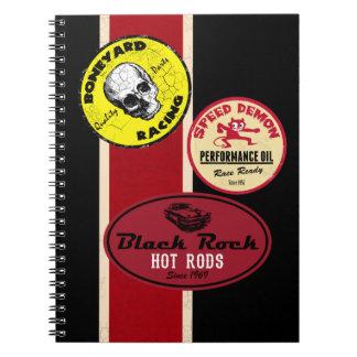 Hot Rod Racing retro Notebook