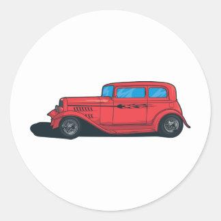Hot Rod Red Classic Round Sticker