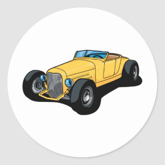 Hot Rod Roadster Classic Round Sticker