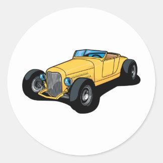 Hot Rod Roadster Round Sticker