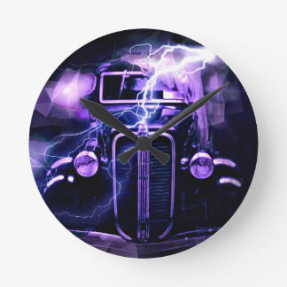 Hot Rod Round Clock