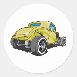Hot Rod Round Sticker