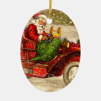 Hot Rod Santa Christmas Ornament