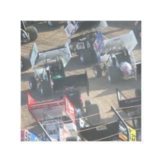 Hot Rod Speedway Horse Power Canvas Print