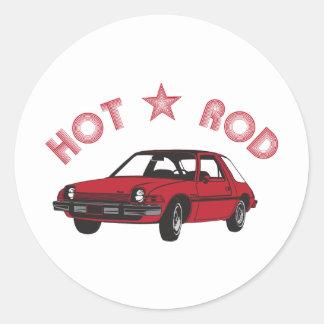 Hot Rod Round Stickers
