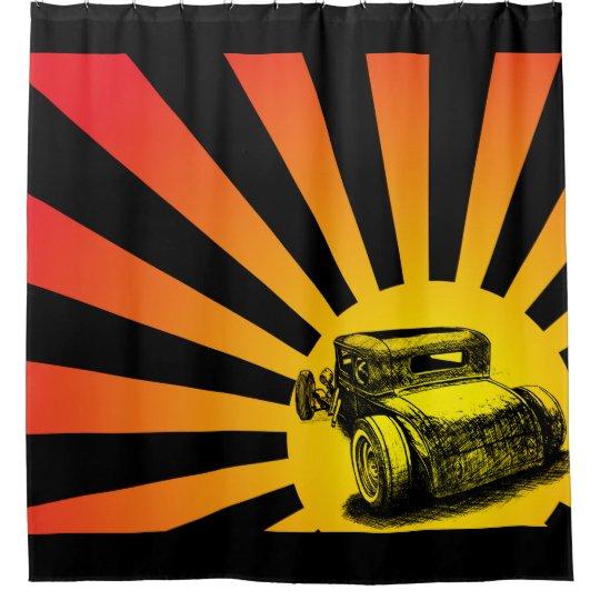 Hot Rod Sunset Shower Curtain