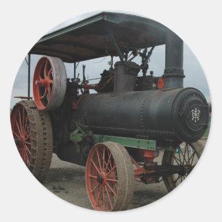 Hot Rod Tractor Round Sticker