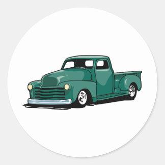 Hot Rod Truck Classic Round Sticker