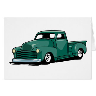 Hot Rod Truck Greeting Card