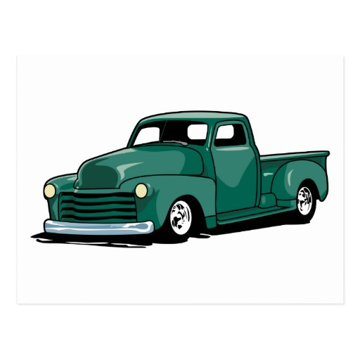 Hot Rod Truck Post Card