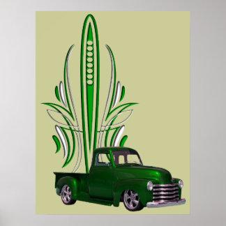 Hot Rod Truck Poster