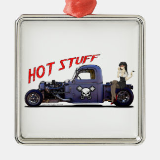 Hot Rod Truck with a Girl Christmas Ornament