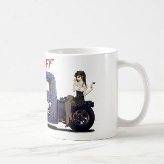 Hot Rod Truck with a Girl Coffee Mug
