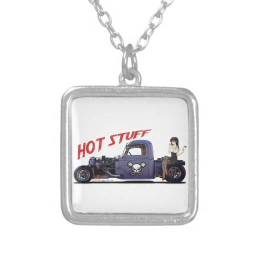 Hot Rod Truck with a Girl Necklace