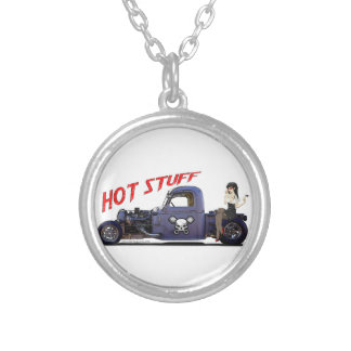 Hot Rod Truck with a Girl Pendant