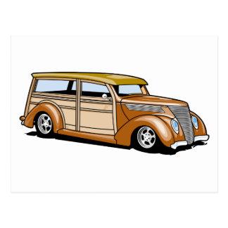 Hot Rod Woodie Postcard