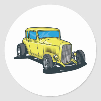 Hot Rods Classic Round Sticker